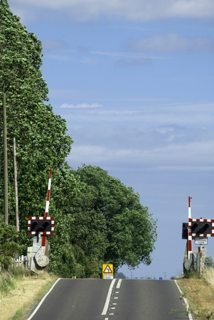 Railway Crossing over Country Road in England