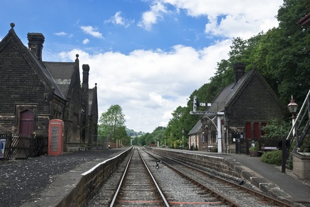 Station on an old Presereved Railway in England Stock Photo