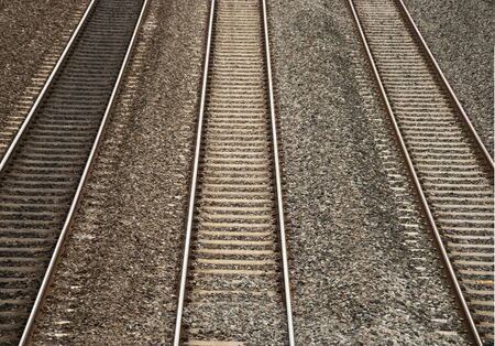 Three Raliway Tracks Running Parrallel to Each Other
