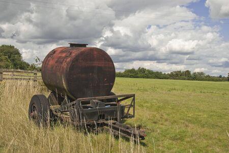 Farm Water Tank on Homemade Trailer
