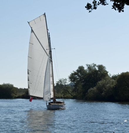Yacht Sailing on the Norfolk Broads England