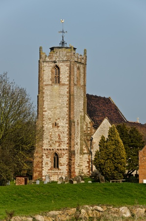english village: Tower of Medieval English Village Church