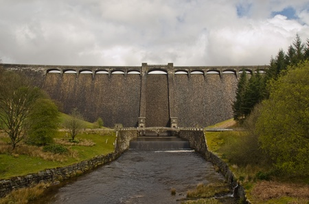 Claerwen Dam in the heart of Wales