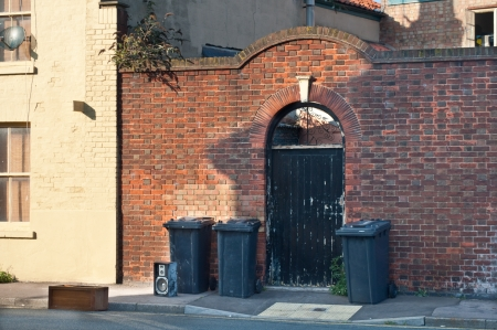 Bins and rubbish left out for disposal