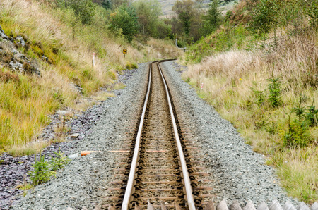 narrow gauge: Narrow Gauge Railway Track Stock Photo
