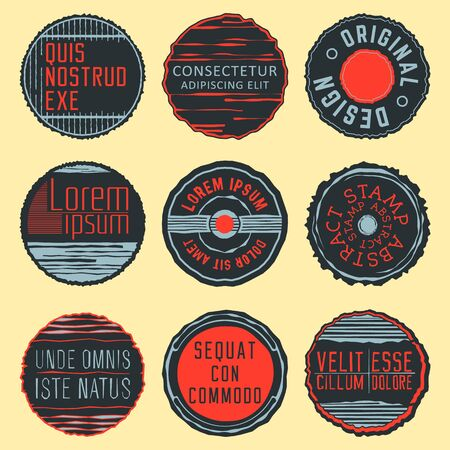 logotypes: Set of abstract Stamps, Insignias, Logotypes. Vector design.