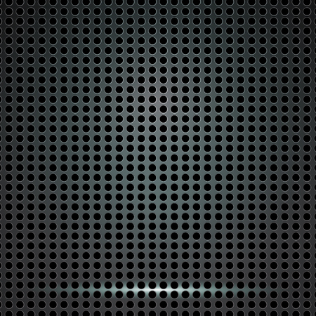reticulation: Abstract Black Metallic Perforated Background. Vector design.