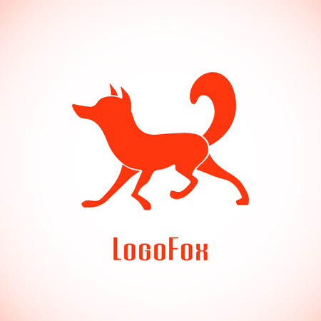 artful: Abstract Fox. Idea logotype for corporate identity. Vector design. Illustration