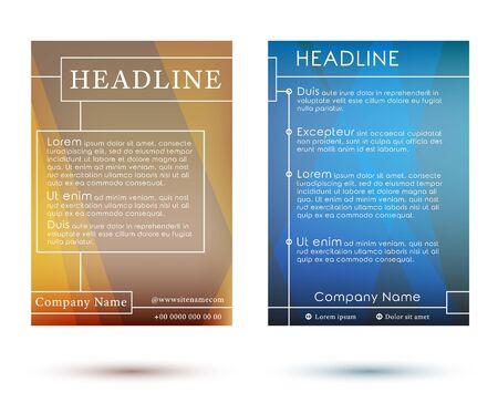 headliner: Brochure Template Poster. Booklet Flyer Layout A4. Brochure Cover Design. Vector Illustration. Illustration