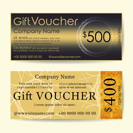Gift Voucher Template Flyer Simple Design Layout Vector