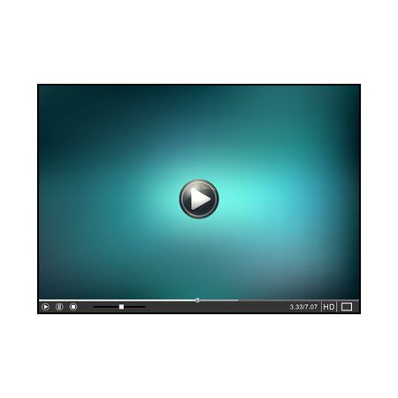 video player: Online Player template. Video Player interface. Player isolated on white background. Vector illustration Illustration