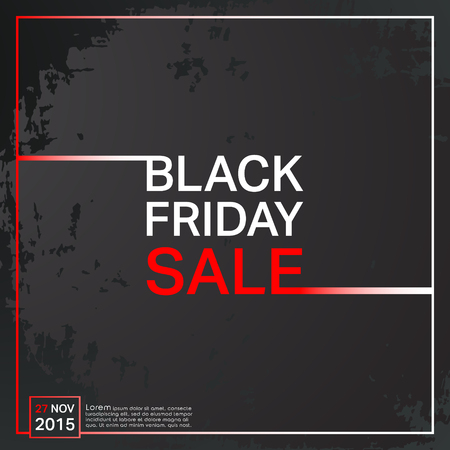Black Friday sale poster. Grunge background.  Ilustracja