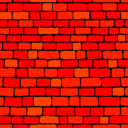 red brick wall: Red brick wall seamless background. Vector illustration.