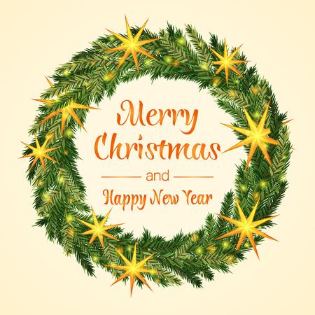 holy  symbol: corona de Navidad colorida. Feliz navidad y pr�spero a�o nuevo. Ilustraci�n del vector.