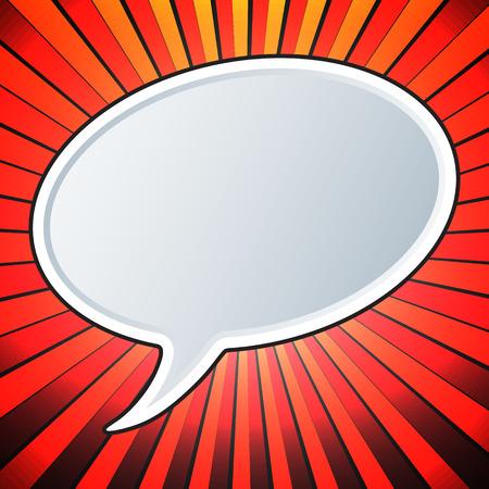 Empty speech bubble template. Comic style. Pop art design. Vector illustration.