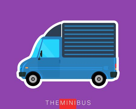 commercial vehicle: Commercial delivery cargo truck. Freight bus. Commercial vehicle minibus. Vector illustration