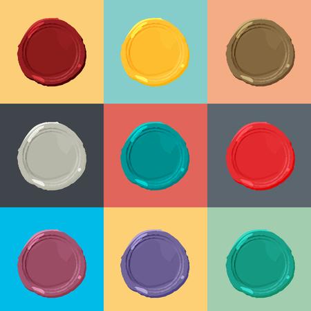 Wax modèle de joint. cire colorée d'étanchéité définie.