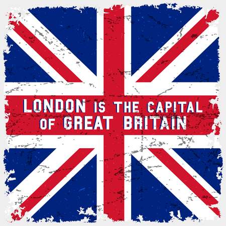 tees graphic tees t shirt printing: England flag vintage poster. T-shirt print design. London is the capital of great britain. Vector illustration.
