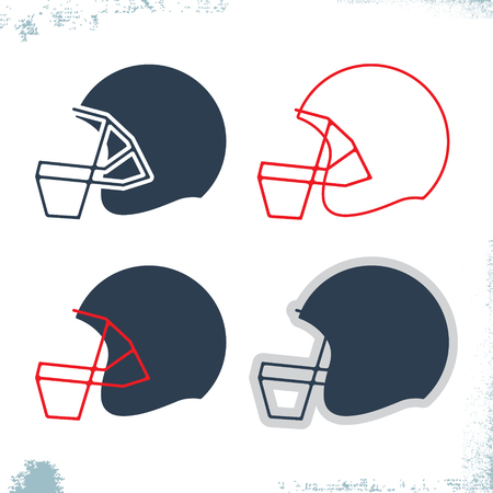 american football helmet set: American football helmet icon template set. Design sport element for flyer, brochure, t-shirt print. Vector illustration.