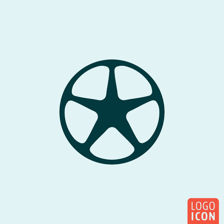 rim: Wheel rim Icon. Wheel rim  . Wheel rim symbol. Minimal icon design. Vector illustration Illustration