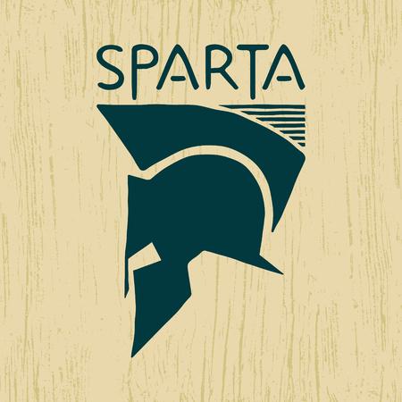 sparta: Spartan helmet icon. Sparta  . Element t-shirt printing. Vector illustration.