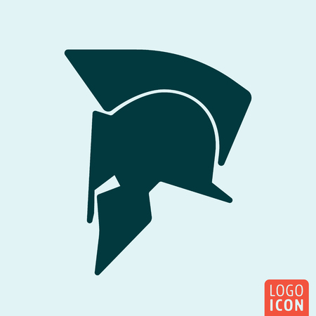 spartan: Spartan helmet symbol. Minimal icon design. Vector illustration