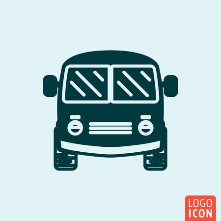 mini van: Bus symbol. Mini van minimal icon design. Vector illustration Illustration