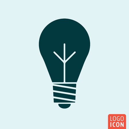 lump: Bulb lamp symbol. Minimal icon design. Vector illustration