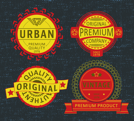 casual wear: T-shirt print design. Insignia vintage stamp. Printing and badge applique label t-shirts, jeans, casual wear. Vector illustration.