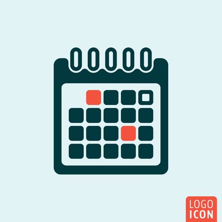 Calendar icon. Calendar logo. Calendar symbol. Calendar sheet isolated minimal icon design. Vector illustration.