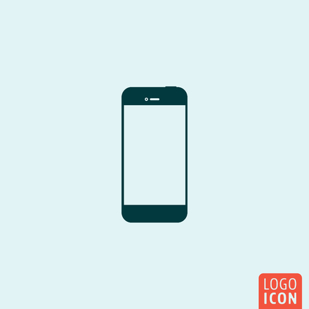 Smartphone icon. Smartphone logo. Smartphone symbol. Smart phone icon isolated. Mobile phone icon minimal design. Vector illustration.
