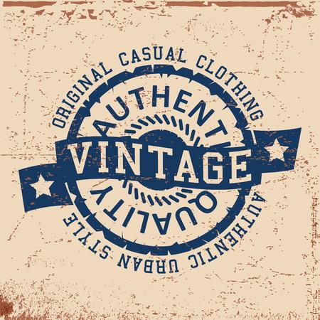 T-shirt print design. Urban vintage stempel, poster. Printing en badge applique label t-shirts. Vector illustratie.
