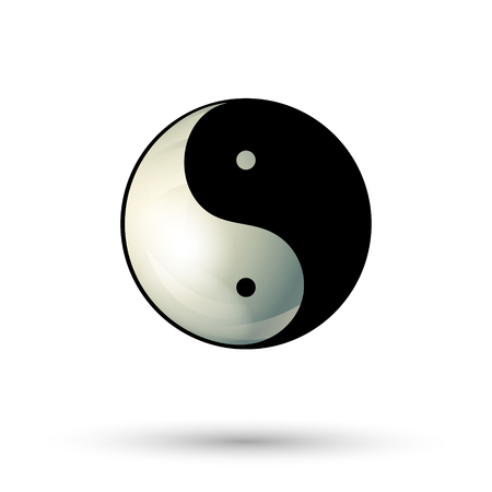 yinyang: Yinyang symbol isolated on white background. Yinyang icon. Ying Yang logo. Vector illustration. Illustration