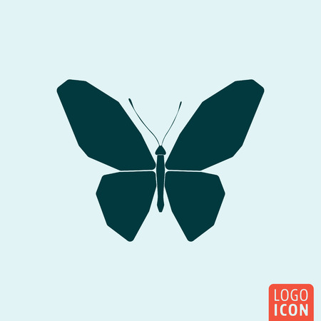 butterfly isolated: Butterfly icon. Butterfly logo. Butterfly symbol. Butterfly icon isolated minimal design. Vector illustration.