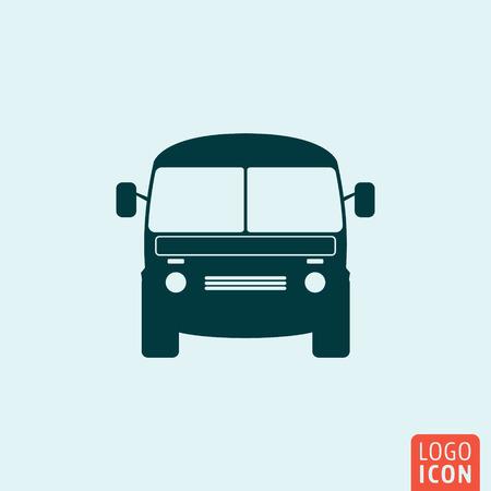 mini bus: Mini bus icon. Mini bus logo. Mini bus symbol. Mini van icon. Vehicle icon isolated. Transport icon minimal design. Vector illustration.