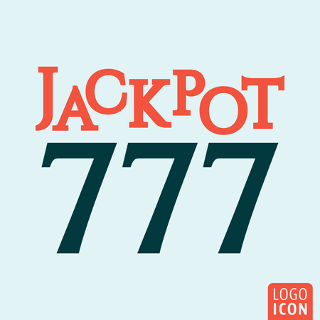 jackpot: Jackpot icon. Jackpot logo. Jackpot symbol. Jackpot 777 icon isolated minimal design. Casino icon. Vector illustration. Illustration