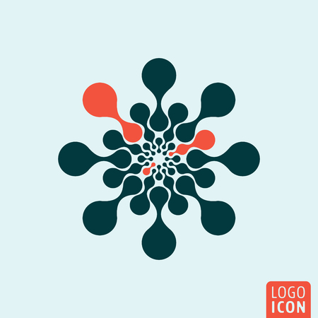 a structure: Molecule icon. Molecule logo. Molecule symbol. Molecule icon isolated minimal design. Vector illustration.
