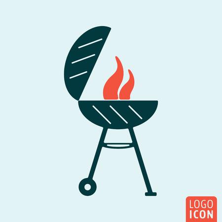 barbecue grill: Barbecue BBQ icon. Barbecue BBQ logo. Barbecue BBQ symbol. Barbeque BBQ grill icon isolated minimal design. Vector illustration.