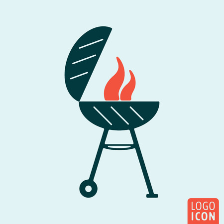 Barbecue Grill-Symbol. Barbecue Grill-Logo. Barbecue Grill-Symbol. Barbeque-Grill Symbol minimal Design isoliert. Vektor-Illustration.