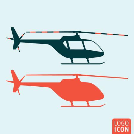 Ikona helikoptera. Logo helikoptera. Symbol helikoptera. Sylwetka helikopter ikona na białym tle, minimalistyczny design. Ilustracja wektorowa