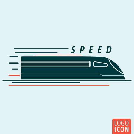 Train icon. Train logo. Train symbol. High speed train icon isolated, minimal design. Vector illustration