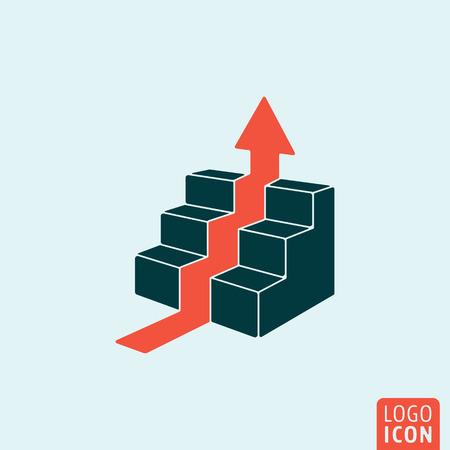 Career icon. Career logo. Career symbol. Career ladder icon isolated, minimal design. Vector illustration