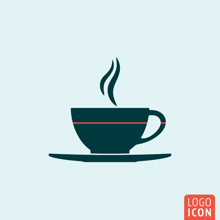 Cup icon. Cup logo. Cup symbol. Cup coffee or tea icon isolated, minimal design. Vector illustration