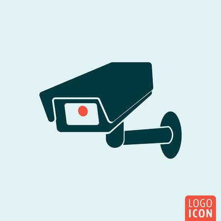 cctv security: CCTV icon. CCTV logo. CCTV symbol. Secure camera icon isolated, minimal design. Vector illustration