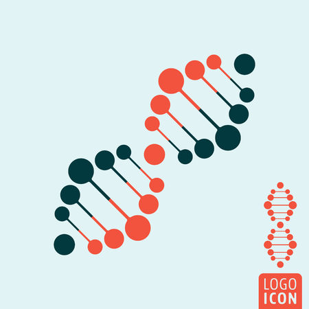 Dna icon. Dna logo. Dna symbol. Dna helix icon isolated, minimal design. Vector illustration Ilustracja