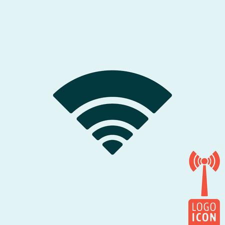 free range: Wifi icon. Wifi logo. Wifi symbol. Wifi zone icon isolated, Wifi tower symbol, wifi signal minimal design. Vector illustration
