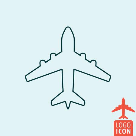 icona del piano. Aereo logo. simbolo Plane. icona del piano di linea isolato, design minimale. illustrazione di vettore