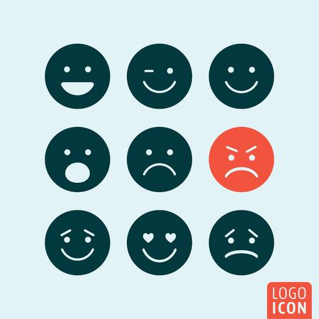 crying face: Emoticons icon. Emoticons logo. Emoticons symbol. Set emoji icons isolated, minimal design. Vector illustration
