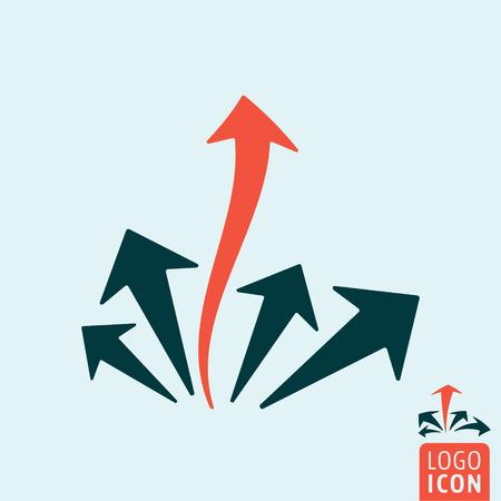 upward movements: Arrow leader icon. Arrow leader logo. Arrow leader symbol. Arrow leadership icon isolated, minimal design. Vector illustration Illustration