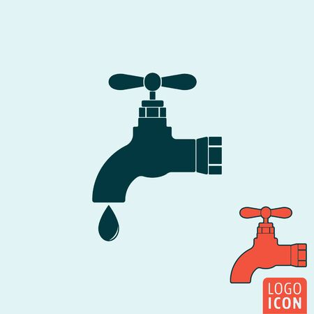ooze: Water tap icon. Water tap logo. Water tap symbol. Water tap water drop icon isolated, minimal design. Vector illustration